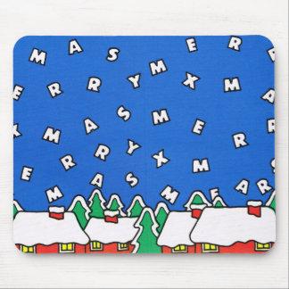Let it snow! Christmas village Mouse Pad