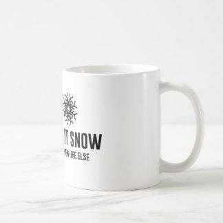 Let It Snow Classic White Coffee Mug