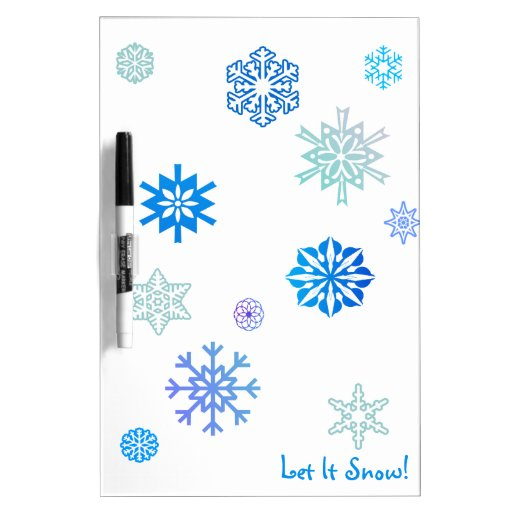 Let It Snow Color Choice Background Dry-Erase Whiteboards