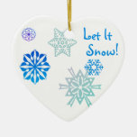 Let It Snow Color Choice Background Christmas Tree Ornaments