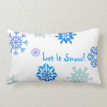 Let It Snow Color Choice Background Throw Pillows