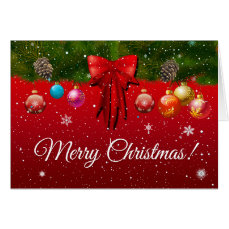 Let It Snow - Colorful Christmas Decorations Card