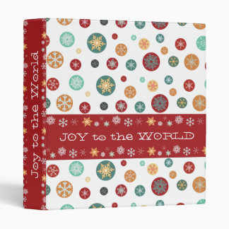 Let it Snow! Colorful Winter Holiday Snowflakes Binder
