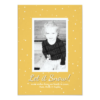 """Let it Snow!"" Customizable Photo Christmas Card"