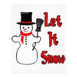 Let It Snow Customized Letterhead