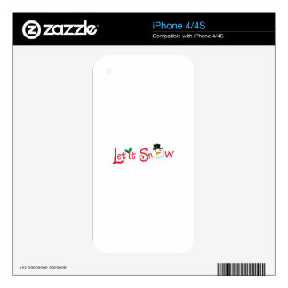 LET IT SNOW DECAL FOR THE iPhone 4