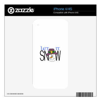 Let It Snow Decals For The iPhone 4S