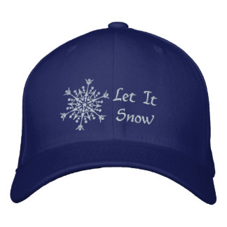 Let It Snow Embroidered Baseball Cap