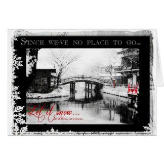 Let It Snow Fancy Season's Greetings Card