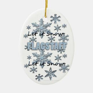 Let it Snow Flagstaff Arizona Christmas Ornament