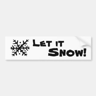 Let it Snow Floating Snowflake Bumper Sticker