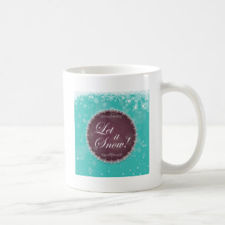 Let It Snow Flurry White Queen Holiday Coffee Mug