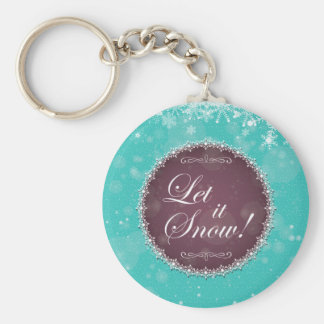 Let It Snow Flurry White Queen Holiday Keychain