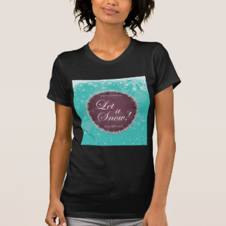 Let It Snow Flurry White Queen Holiday T-Shirt