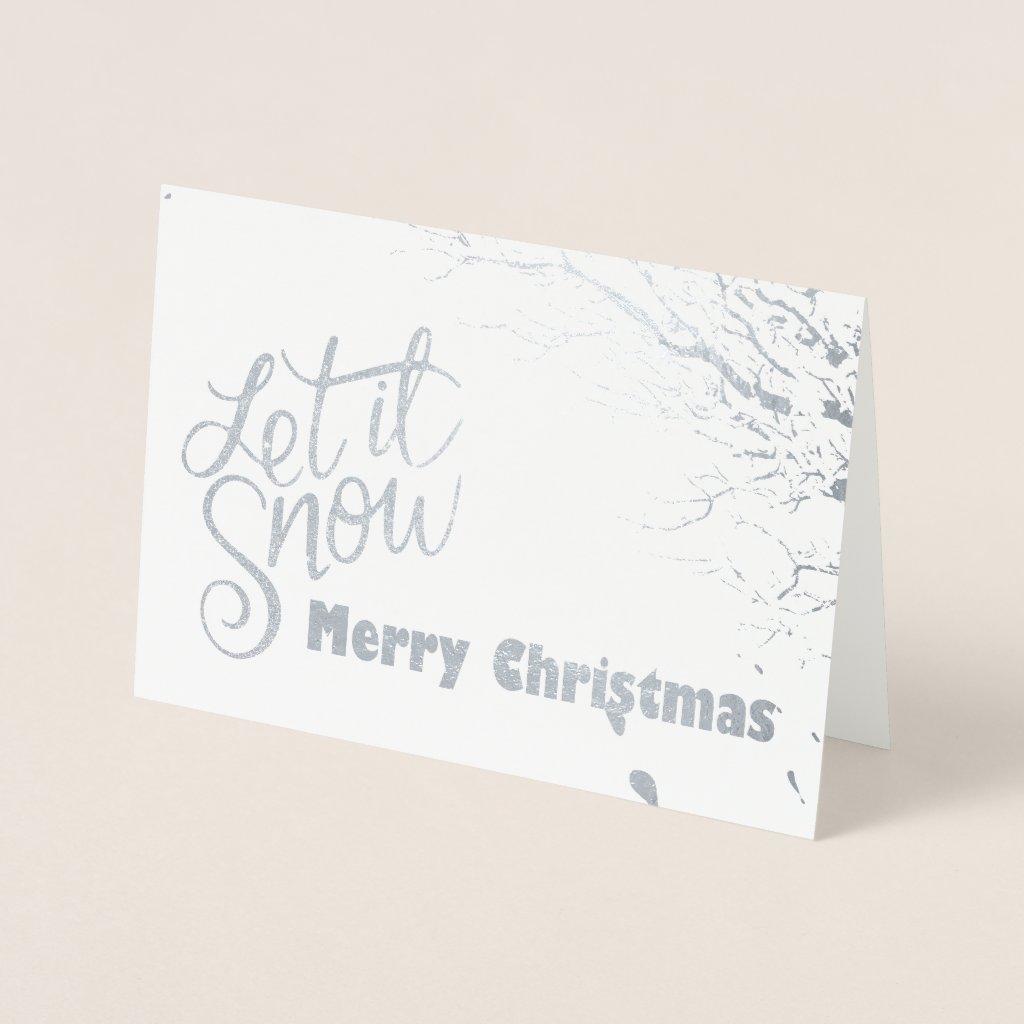Let it Snow (Foil) Christmas Card