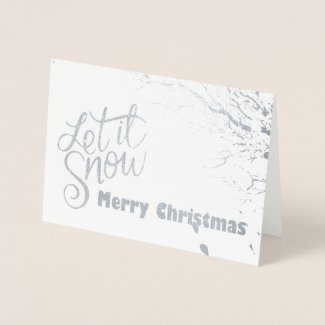 Let it Snow (Foil) Christmas Card