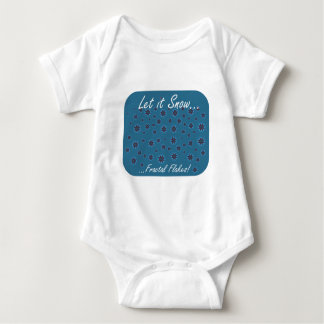 Let it Snow...Fractal Flakes! Baby Bodysuit
