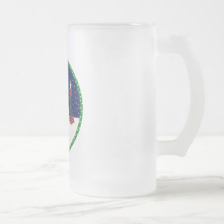 let it snow frosted glass beer mug