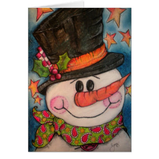 Let It Snow - Frosty Snowman Greeting Cards