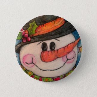Let It Snow - Frosty Snowman Pinback Button