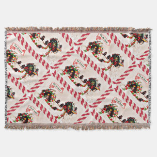 Let it Snow Gingerbread Family Holiday Blanket