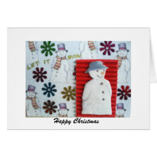 let it snow, Happy Christmas Cards