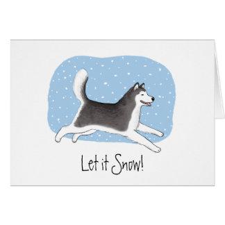 """Let it Snow!"" Happy Dog Design Card"
