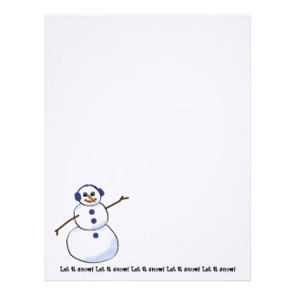 Let it snow! Happy Snowman Writing Paper