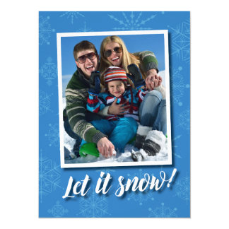 Let It Snow Holiday Greetings Photo Card