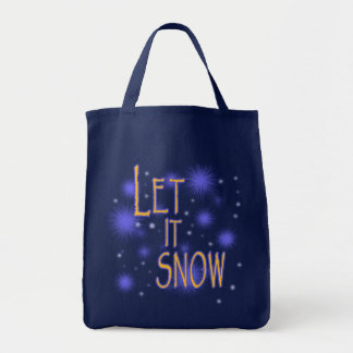 Let it Snow Holiday or Winter Tote Bag