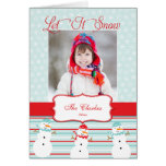 Let It Snow   Holiday Photo Greeting Card