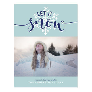Let It Snow! Holiday Photo Postcard