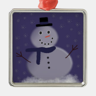 Let it snow - Holiday Snowman Metal Ornament