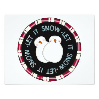 Let it Snow Holiday Tshirts and Gifts Invitations