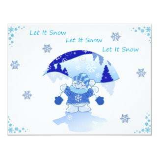 LET IT SNOW PERSONALIZED INVITATIONS