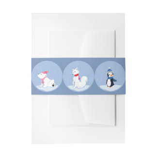 Let It Snow! Invitation Belly Band