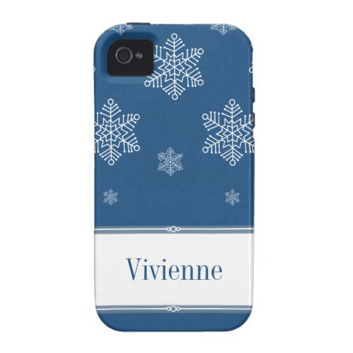 Let it Snow iPhone 4 Vibe Case, Blue iPhone 4 Cases