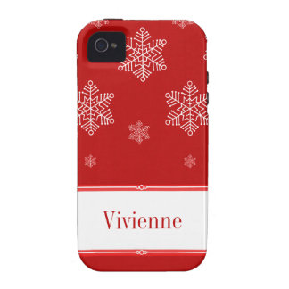 Let it Snow iPhone 4 Vibe Case Red iPhone 4/4S Cases