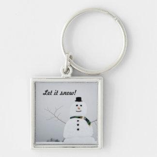 Let it snow key chain