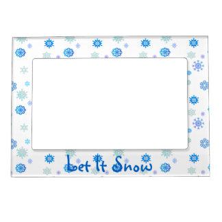 Let It Snow Magnetic Frame