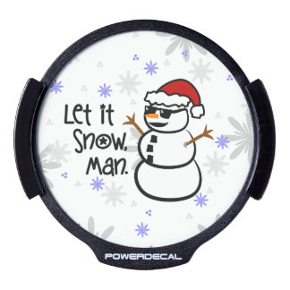 Let it Snow, Man LED Window Decal