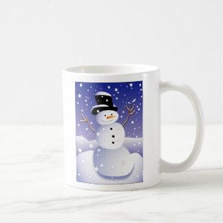 Let it snow, man! classic white coffee mug