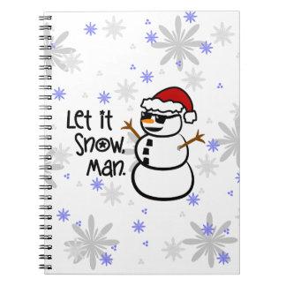 Let it Snow, Man Spiral Notebook