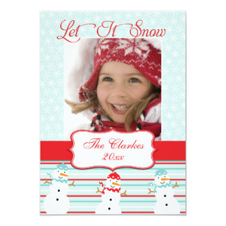 LET IT SNOW! MERRY CHRISTMAS | HOLIDAY PHOTO CARD
