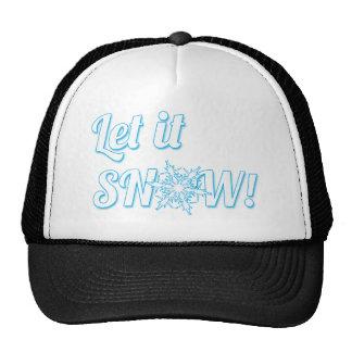 let it Snow Mesh Hat