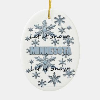 Let it Snow Minnesota  Christmas Ornament
