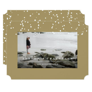 Let It Snow Modern Simple Frame Holiday Photo Card