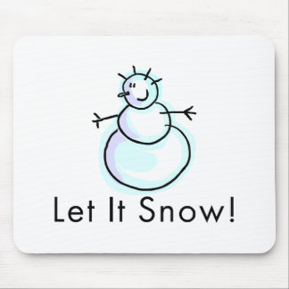 Let It Snow Mouse Pad