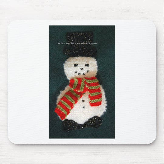 let it snow mouse pad