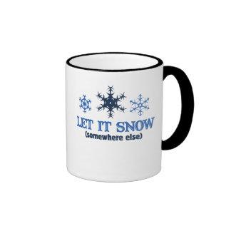 LET IT SNOW RINGER COFFEE MUG